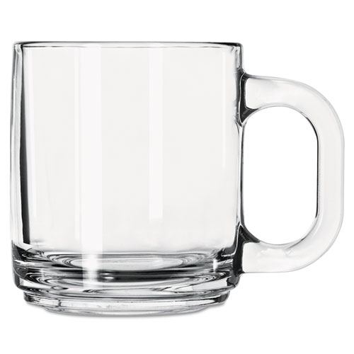 Glass Mugs & Tankards, 10 oz, Clear, Crystal Coffee Mug 5201