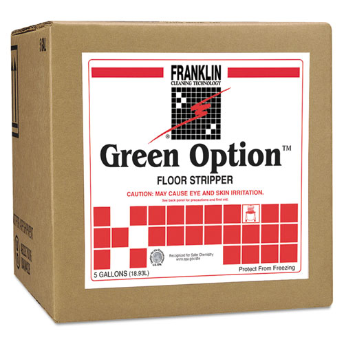 Franklin Cleaning Technology® Green Option Floor Stripper, Liquid, 5 gal. Box