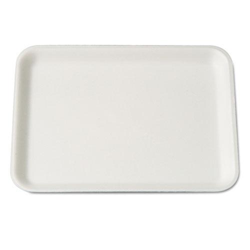 Genpak® Supermarket Tray, 7.25 x 9.25 x 0.5, White, 125/Bag, 4 Bags/Carton