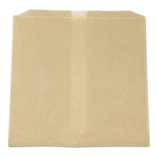 Waxed Napkin Receptacle Liners, 8.5 x 8, Brown, 500/Carton