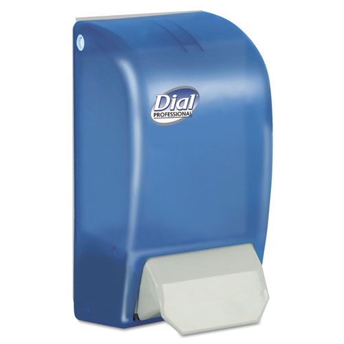"Dial® Professional 1 Liter Manual Foaming Dispenser, 5"" x 4.5"" x 9"", Blue"