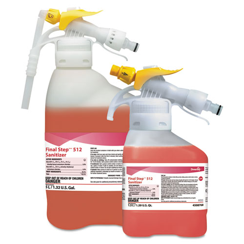 Diversey™ Final Step 512 Sanitizer, Red, 5 L RTD Refill, 1 Refill/Carton
