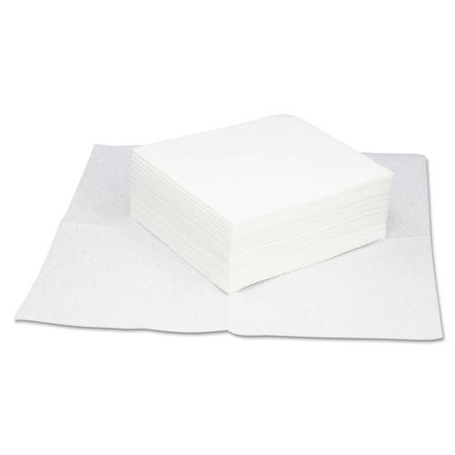 HOSPECO® TASKBrand Grease & Oil Wipers, Quarterfold, 12 x 13 1/4, White, 50/Pack