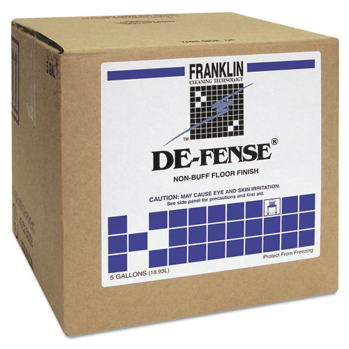 DE-FENSE Non-Buff Floor Finish, Liquid, 5 gal. Box