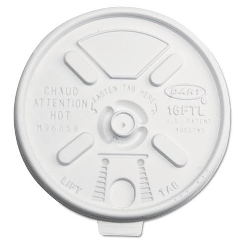 Lift n Lock Plastic Hot Cup Lids, 12-24oz Cups, Translucent, 1000/Carton