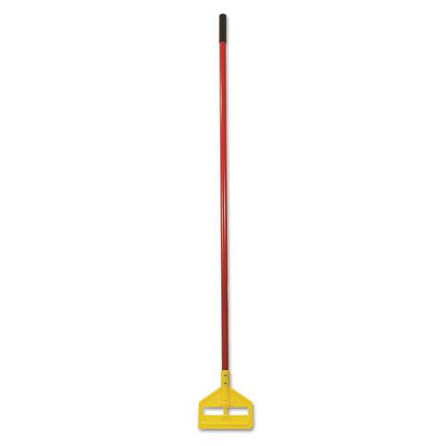 Invader Fiberglass Side-Gate Wet-Mop Handle, 60, Red/Yellow