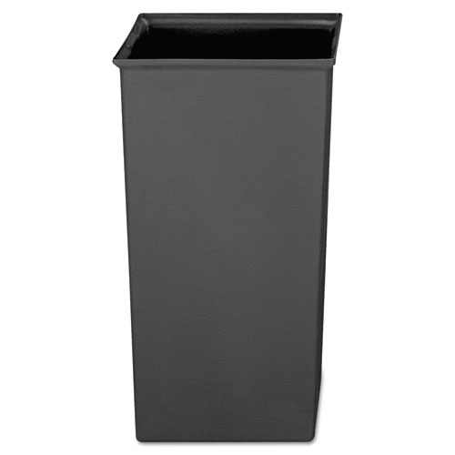 Rigid Liner, Square, Plastic, 24.67 gal, Gray