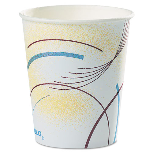 Paper Water Cups, 5 oz., Cold, Meridian Design, Multicolored, 100/Bag 52MD