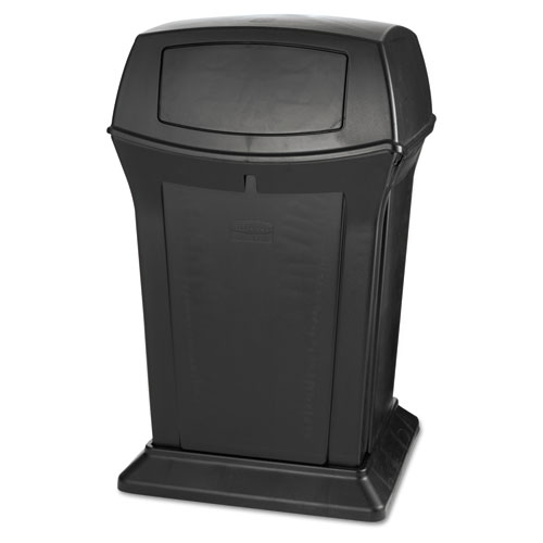 Ranger Fire-Safe Container, Square, Structural Foam, 45 gal, Black