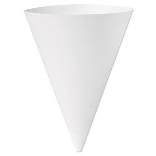 Bare Treated Paper Cone Water Cups, 7 oz., White, 250/Bag 156