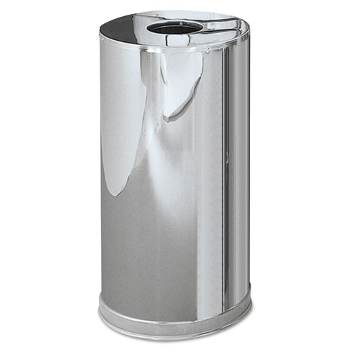 Rubbermaid® Commercial Atrium Steel Containers,7 7/10 gal, Stainless Steel