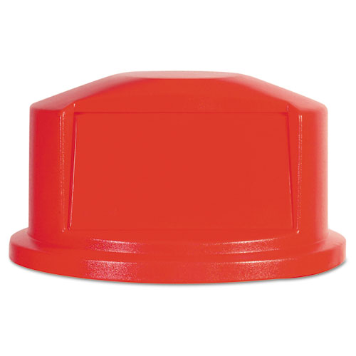 Rubbermaid® Commercial Round Brute Dome Top, 22 11/16dia x 12 1/4h, Red