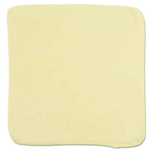 Microfiber Cleaning Cloths, 12 x 12, Yellow, 24/Bag