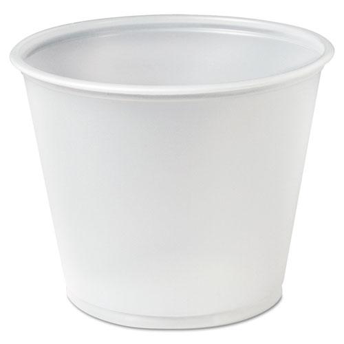 Plastic Soufflé Portion Cups, 5 1/2 oz., Translucent, 250/Bag P550N