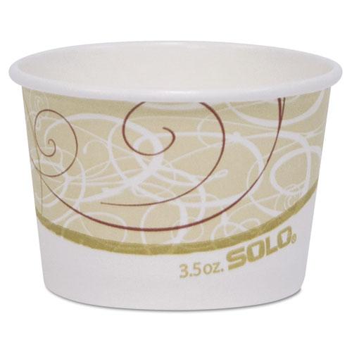"Dart® Single Poly Paper Containers, 6 oz, 3.8"" Diameter x 1.9""h, Symphony Design, 50/Pack, 20 Pack/Carton"