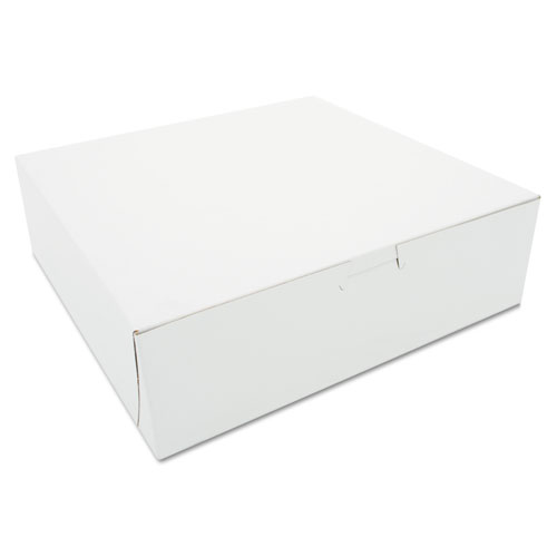 Tuck-Top Bakery Boxes, 10 x 10 x 3, White, 200/Carton