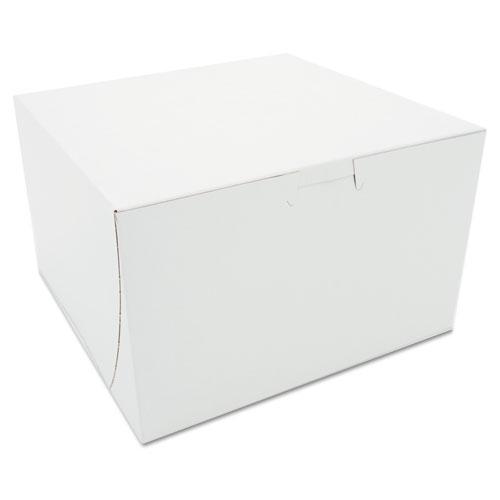 Tuck-Top Bakery Boxes, 8 x 8 x 5, White, 100/Carton