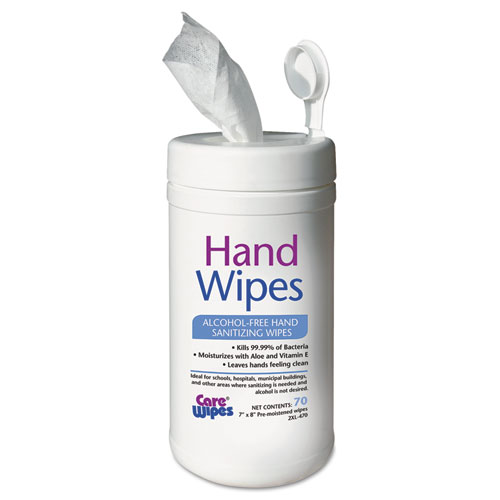 2XL Alcohol Free Hand Sanitizing Wipes, 7 x 8, White