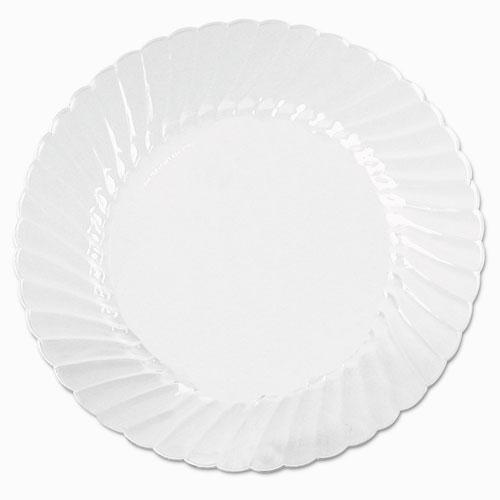 Classicware Plates, Plastic, 10.25 in, Clear, 18/Bag, 8 Bag/Carton