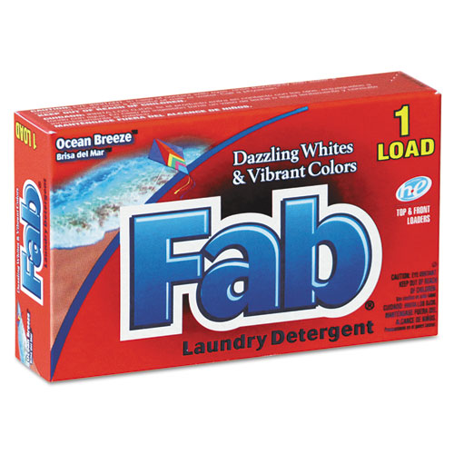 Fab® Dispenser-Design HE Laundry Detergent Powder, Ocean Breeze, 1oz Box