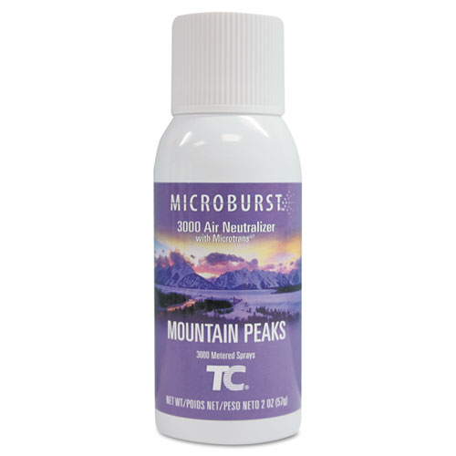 Microburst 3000 Refill, Mountain Peaks, 2 oz Aerosol, 12/Carton | by Plexsupply