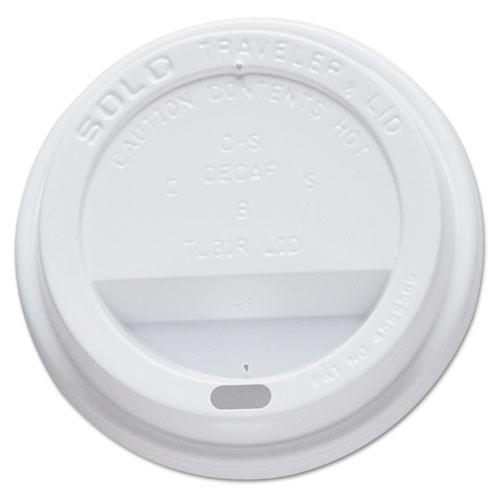 Traveler Drink-Thru Lid, Fits 10oz Cups, White OFTL31