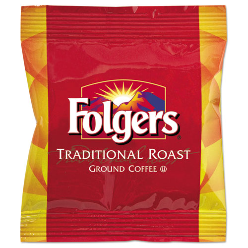 Folgers® Ground Coffee Fraction Packs, Traditional Roast, 2oz, 42/Carton