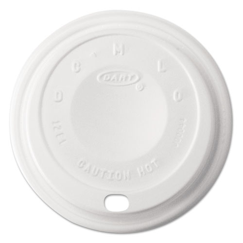 Cappuccino Dome Sipper Lids, 12 oz, White