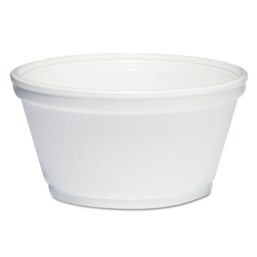 Foam Container, 8oz, White, 1000/Carton 8SJ20