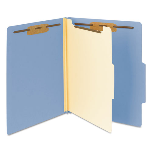 smead top tab classification folder one divider four