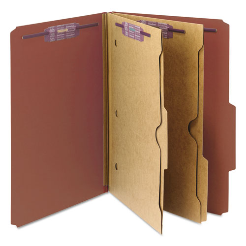 Smd19079 Smead Pressboard Folders With Two Pocket Dividers