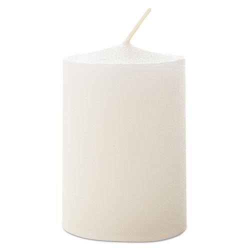 "Votive Candles, 15 Hour Burn, 1 13/16""h, White, 72 per Pack"