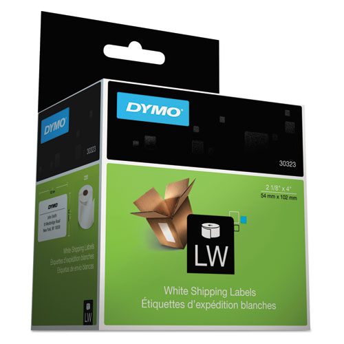 """DYMO® LabelWriter Shipping Labels, 2.12"""" x 4"""", White, 220 Labels/Roll"""