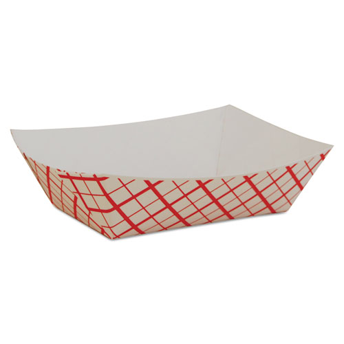 Paper Food Baskets, 0.5 lb Capacity, 4.58 x 3.2 x 1.25, Red/White Checkerboard, 1,000/Carton