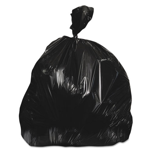 """Heritage High-Density Waste Can Liners, 56 gal, 22 microns, 43"""" x 48"""", Black, 150/Carton"""