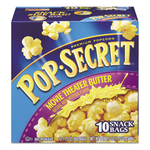microwave popcorn movie theatre butter 175 oz bags 10