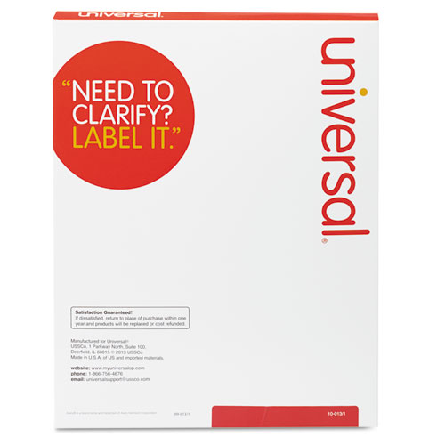 Unv80106 universal laser printer permanent labels zuma for Universal laser printer labels template