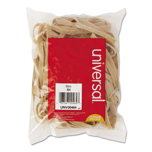 "Rubber Bands, Size 64, 0.04"" Gauge, Beige, 4 oz Box, 80/Pack 