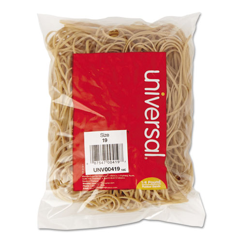 "Rubber Bands, Size 19, 0.04"" Gauge, Beige, 4 oz Box, 310/Pack 