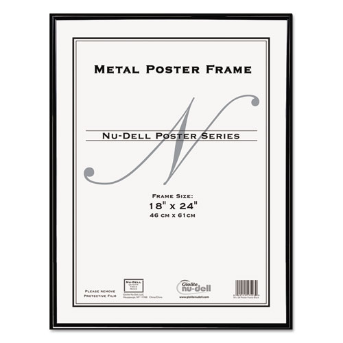 Metal Poster Frame, Plastic Face, 18 x 24, Black - Patrick & Co