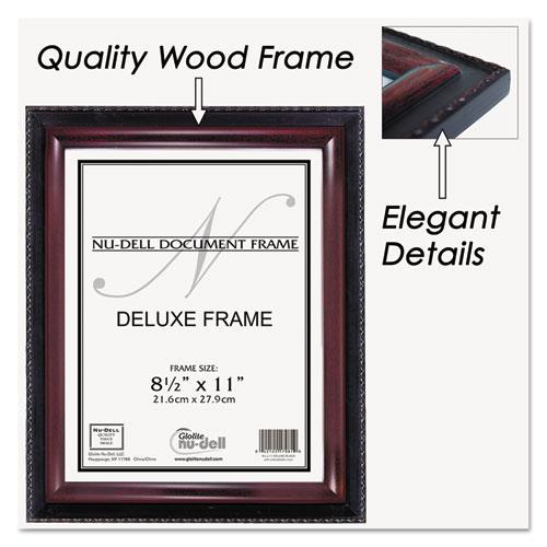 Executive Document Frame, Plastic, 8-1/2 x 11, Black/Mahogany ...