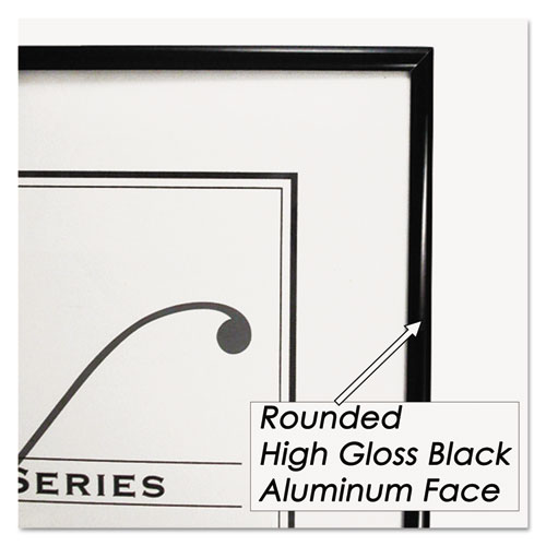Metal Poster Frame, Plastic Face, 18 x 24, Black
