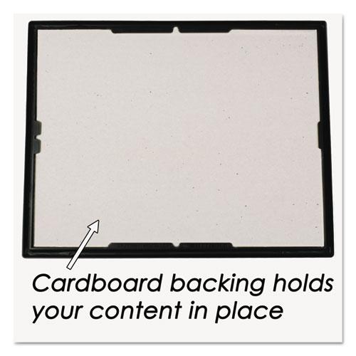 EZ Mount Document Frame w/Trim Accent, Plastic, 8-1/2 x 11, Black ...