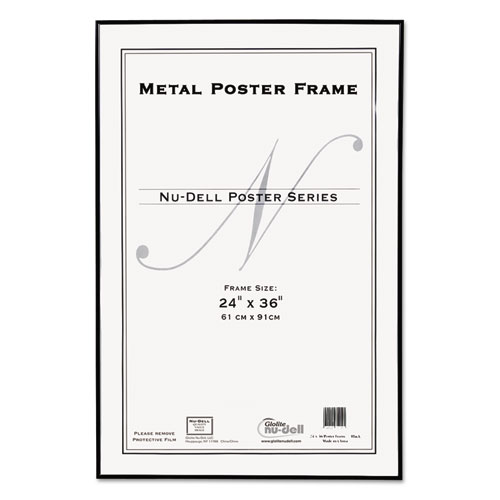 Superwarehouse - Metal Poster Frame, Plastic Face, 24 x 36, Black ...