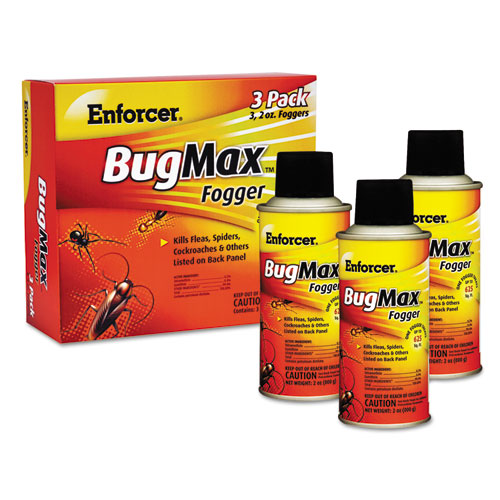 Enforcer® BugMax Fogger, 2 oz, For Ants/Cockroaches/Crickets/Spiders