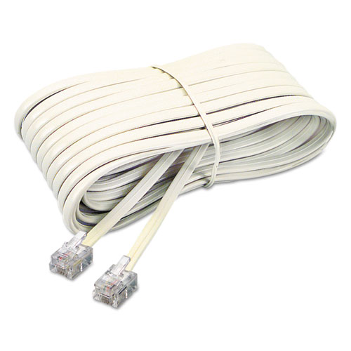Extension Cord Accessories : Telephone extension cord plug ft ivory