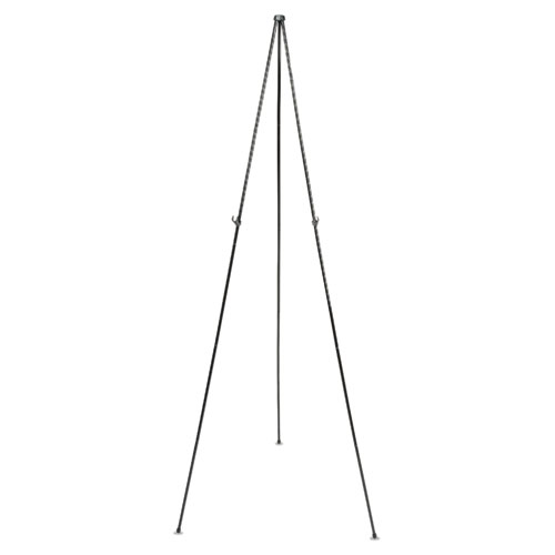 "Full Size Instant Easel, 62-3/8"" Maximum Height, Steel, Black 