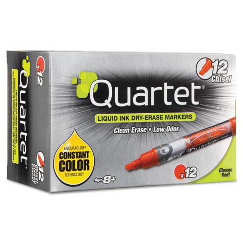 EnduraGlideDry Erase Marker, Broad Chisel Tip, Red, Dozen | by Plexsupply