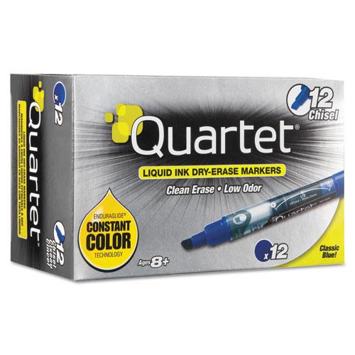 EnduraGlideDry Erase Marker, Broad Chisel Tip, Blue, Dozen | by Plexsupply
