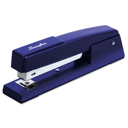 747 Classic Full Strip Stapler, 20-Sheet Capacity, Royal Blue | by Plexsupply